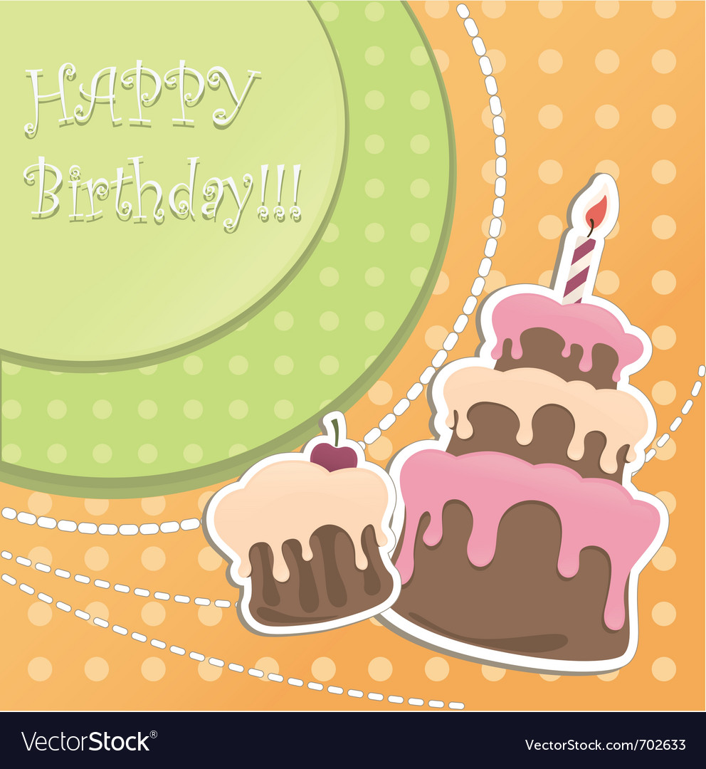 Birthday cakes vector | Price: 1 Credit (USD $1)