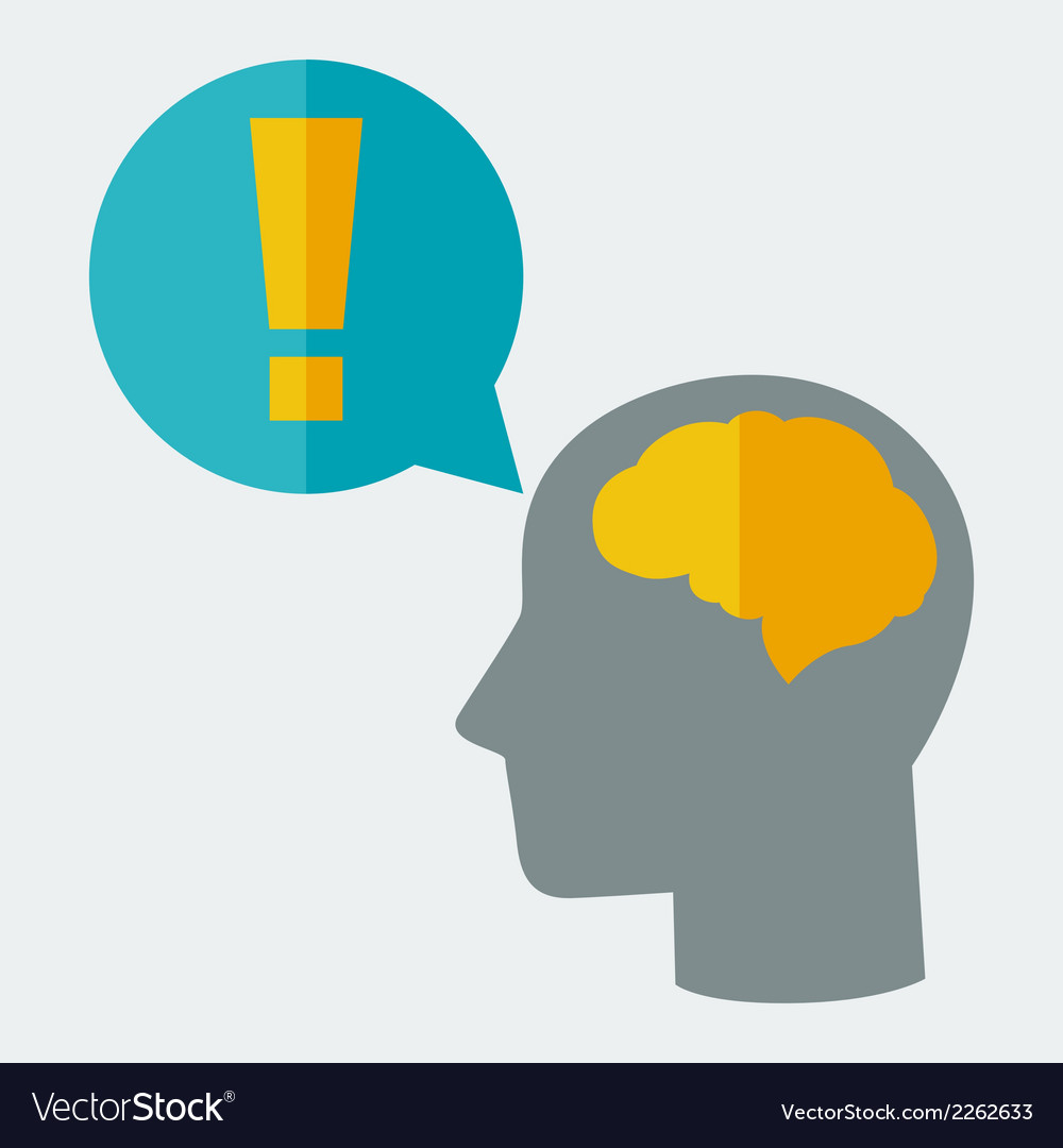 Brainstorm idea concept in flat style vector | Price: 1 Credit (USD $1)