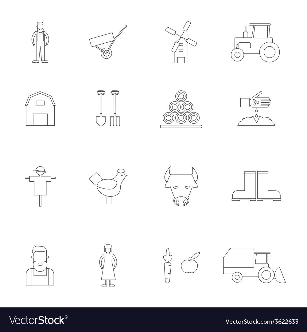 Farm icon outline vector | Price: 1 Credit (USD $1)