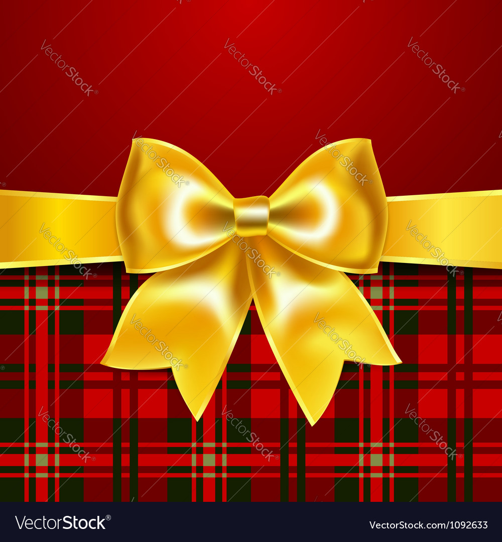 Festive background with ribbon bow vector | Price: 1 Credit (USD $1)