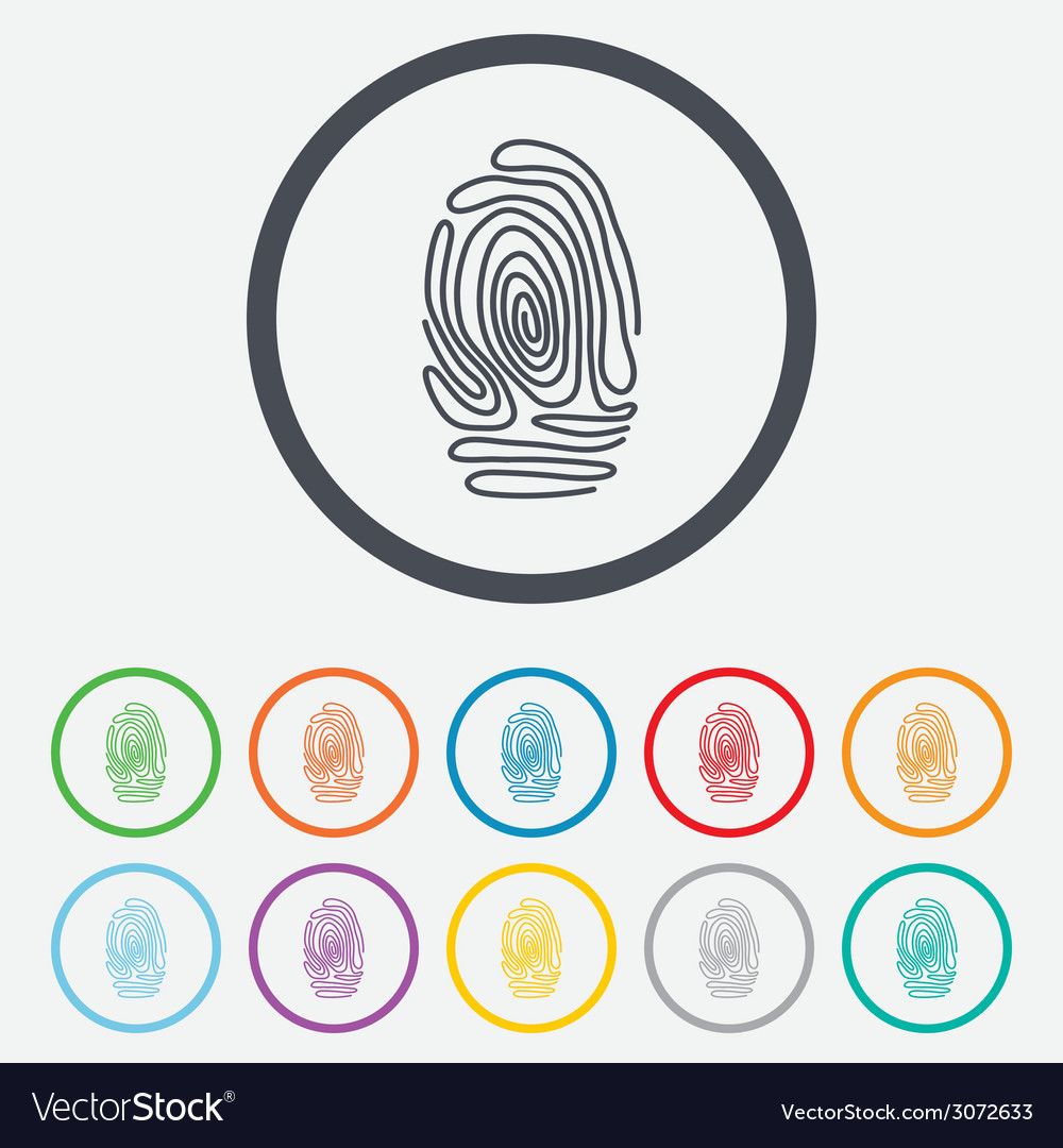 Fingerprint sign icon identification symbol vector   Price: 1 Credit (USD $1)