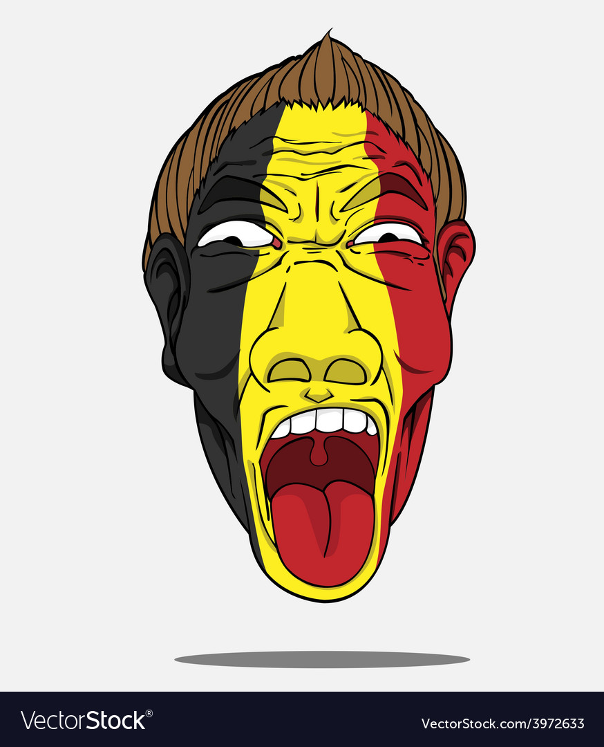 Football fan from belgium vector | Price: 1 Credit (USD $1)