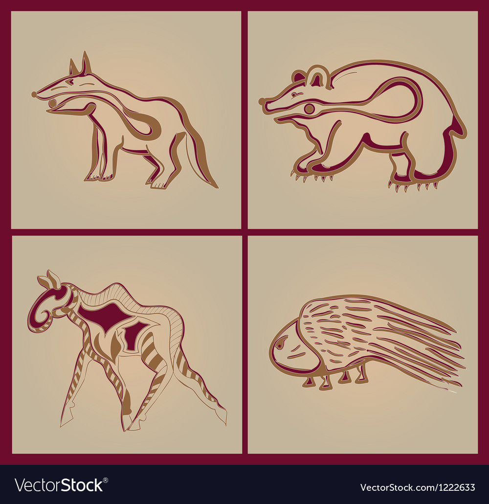 Indian animals vector | Price: 1 Credit (USD $1)