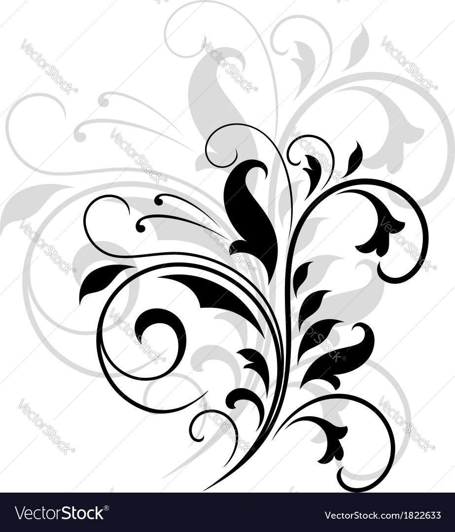 Swirling floral pattern vector | Price: 1 Credit (USD $1)