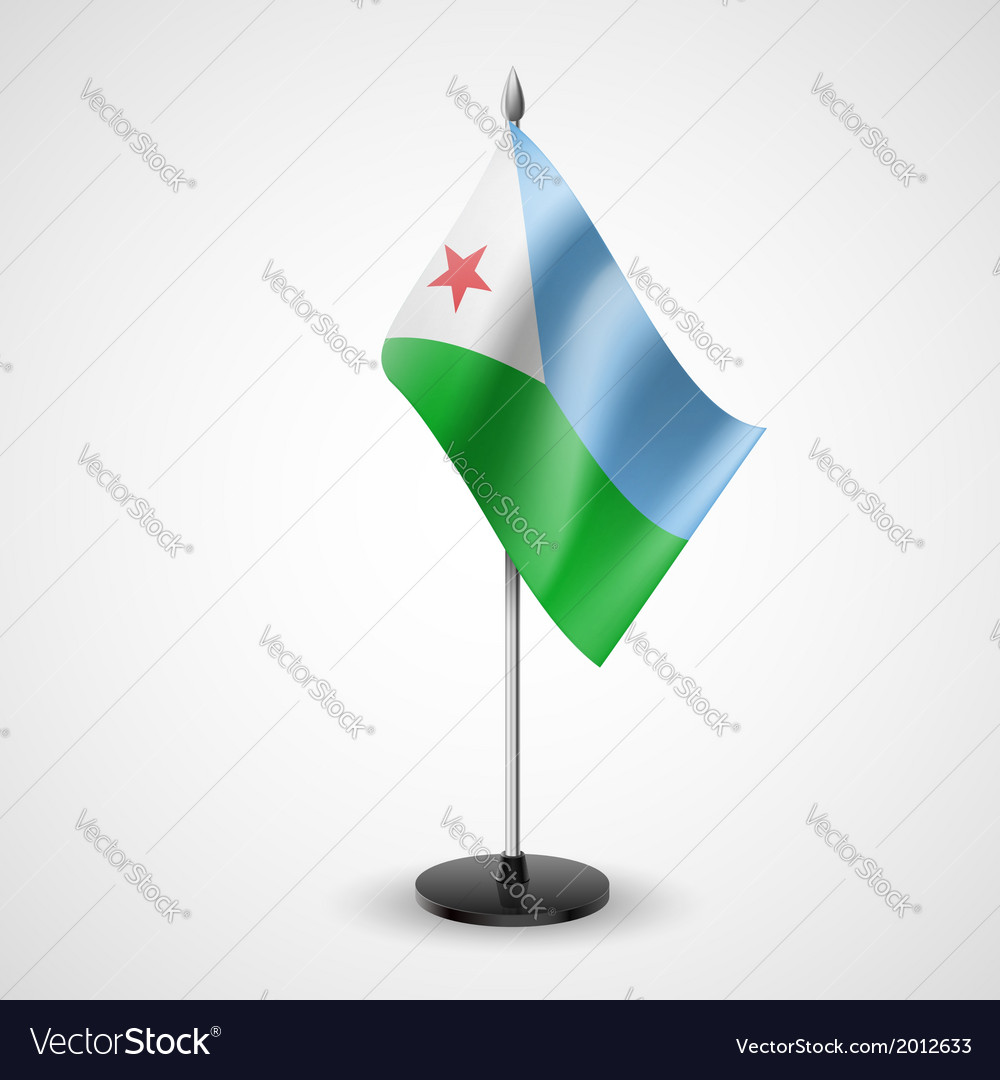 Table flag of djibouti vector | Price: 1 Credit (USD $1)
