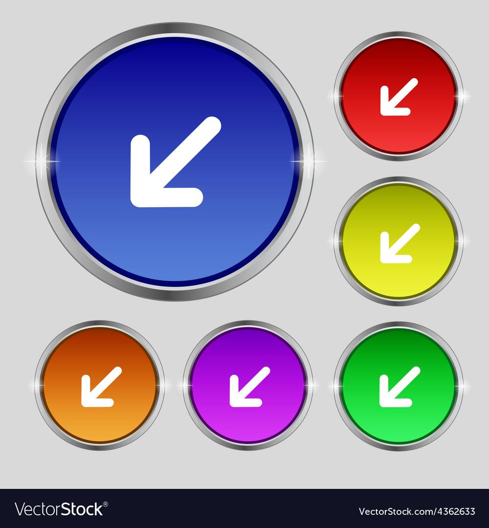Turn to full screenicon sign round symbol on vector | Price: 1 Credit (USD $1)