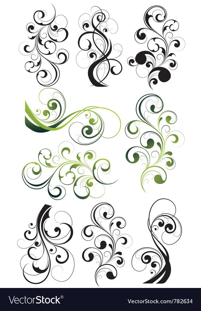 Artistic flowery designs vector | Price: 1 Credit (USD $1)
