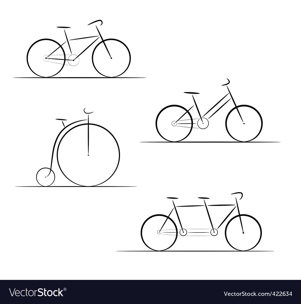 Bicycle logos vector | Price: 1 Credit (USD $1)