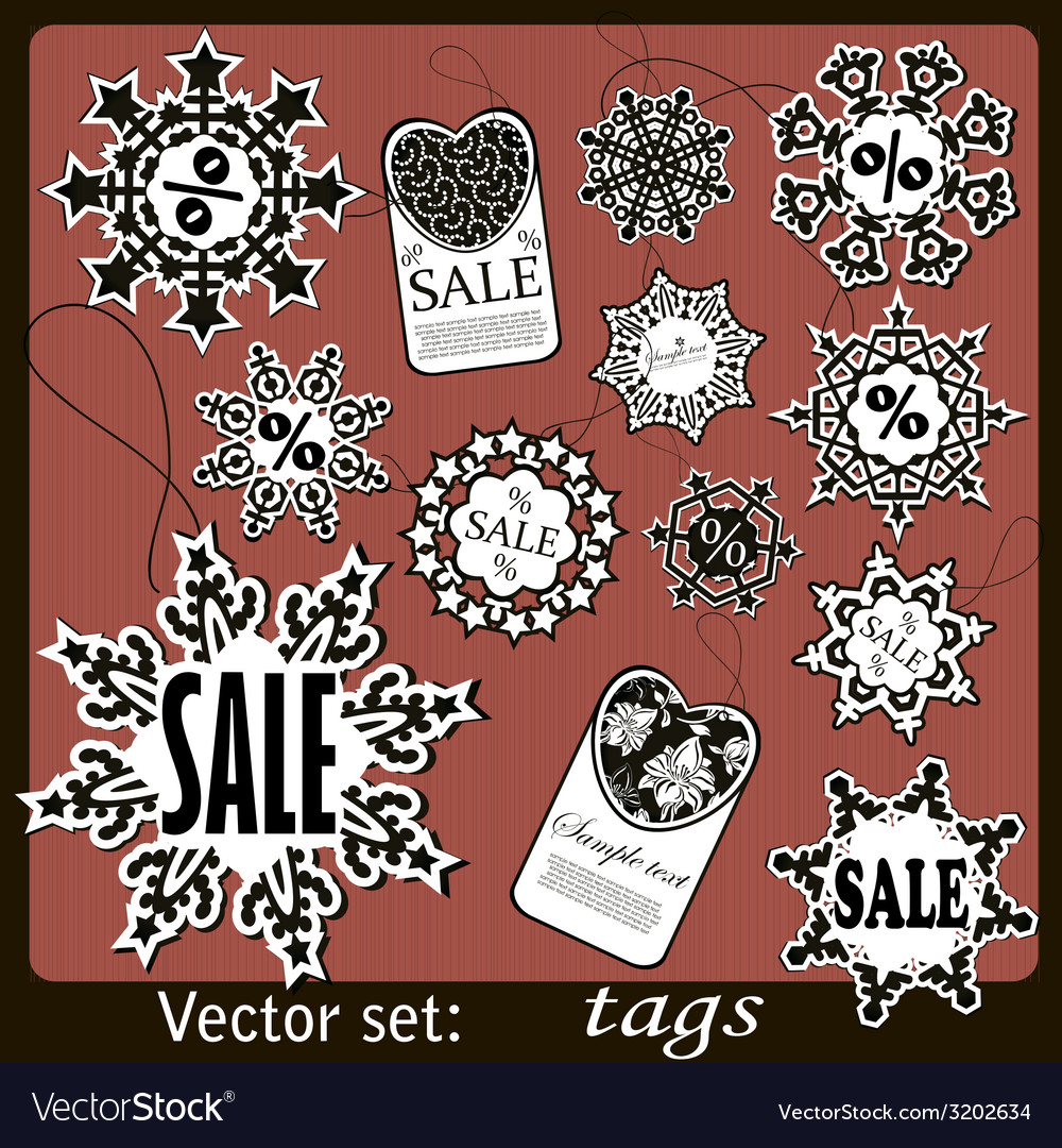 Black friday sale calligraphic design elements set vector | Price: 1 Credit (USD $1)