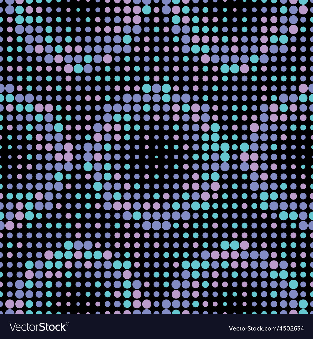 Halftone circle tiles cold colors seamless pattern vector | Price: 1 Credit (USD $1)