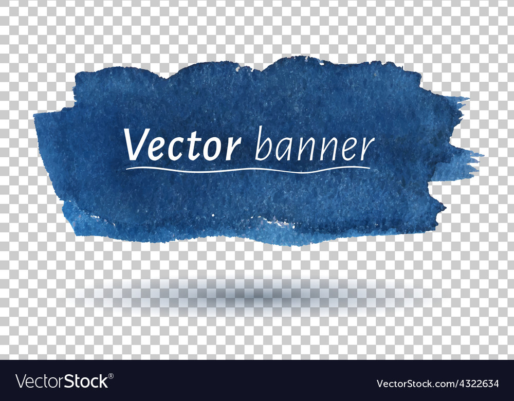 Hand drawn watercolor banner vector | Price: 1 Credit (USD $1)