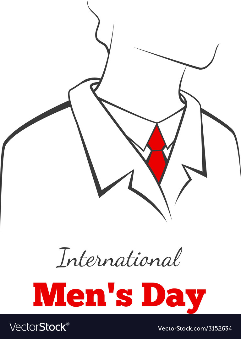 International mans day vector | Price: 1 Credit (USD $1)