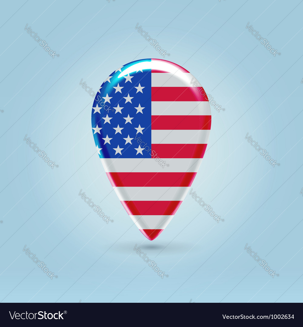 Usa icon point for map vector | Price: 1 Credit (USD $1)