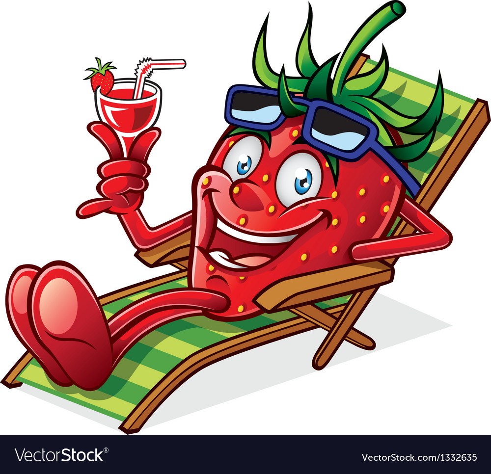 Berry on beach chair vector | Price: 3 Credit (USD $3)