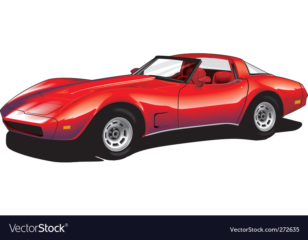 Corvette vector | Price: 3 Credit (USD $3)