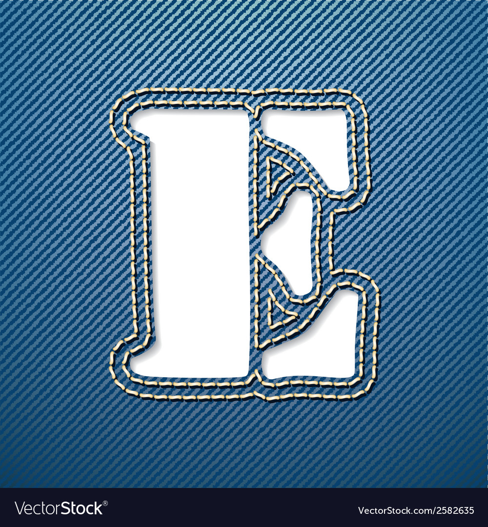 Denim jeans letter e vector | Price: 1 Credit (USD $1)