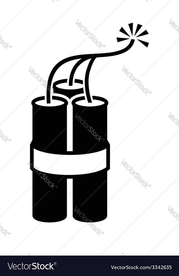 Dynamite icon vector   Price: 1 Credit (USD $1)