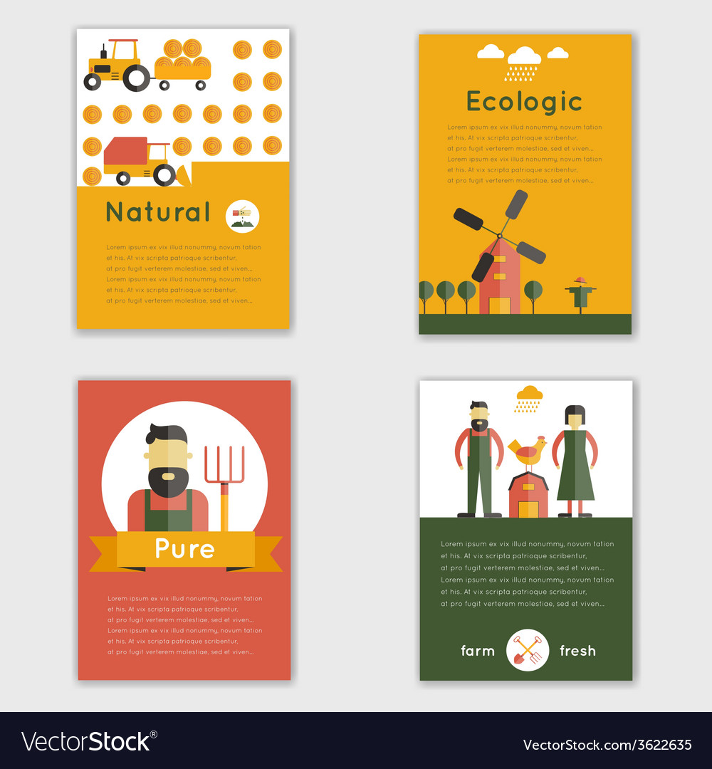 Farm fresh brochure vector | Price: 1 Credit (USD $1)