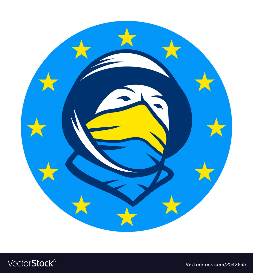 Fighting for joining eu sign vector | Price: 1 Credit (USD $1)