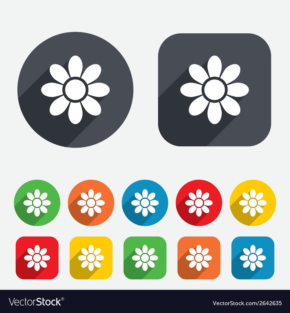 Flower sign icon blossom symbol vector | Price: 1 Credit (USD $1)