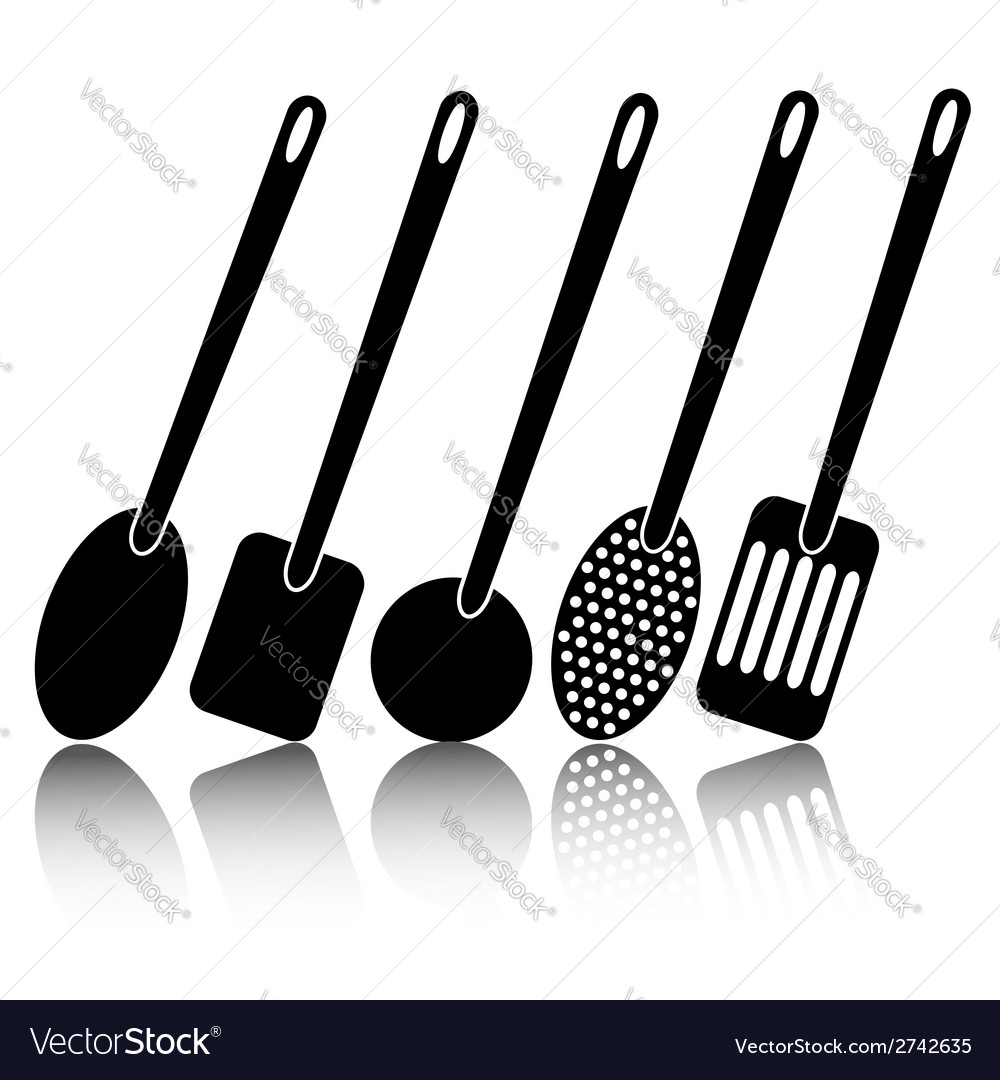 Kitchen utensil silhouettes vector | Price: 1 Credit (USD $1)