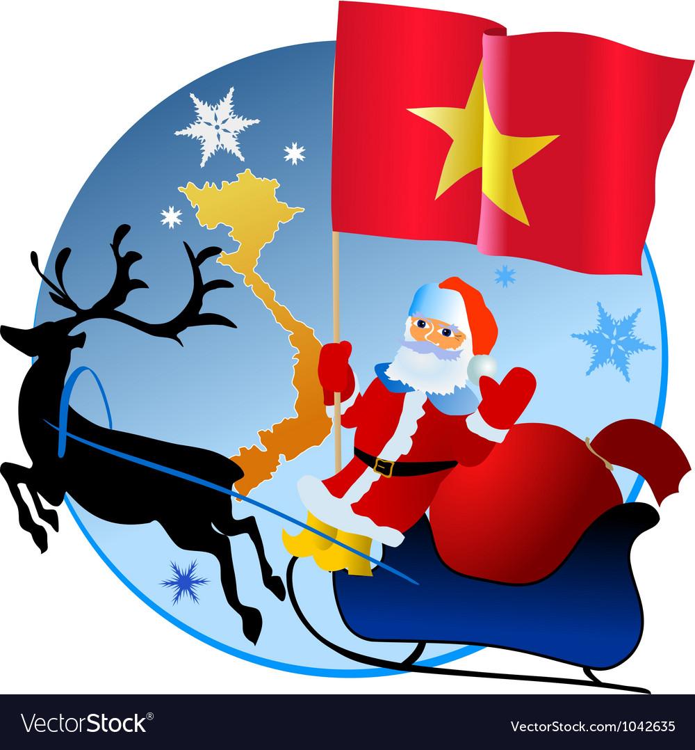 Merry christmas vietnam vector | Price: 1 Credit (USD $1)