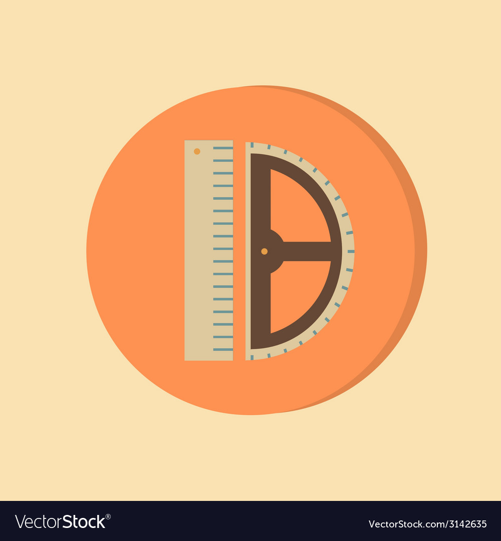 Ruler and protractor characters geometry education vector | Price: 1 Credit (USD $1)