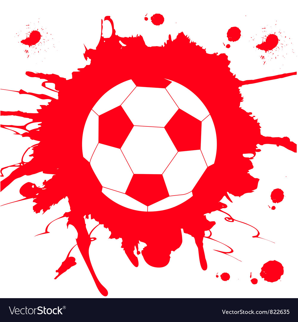 Soccer ball on abstract background vector | Price: 1 Credit (USD $1)