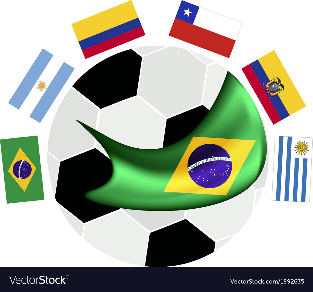 South america qualification in a brazil 2014 vector   Price: 1 Credit (USD $1)