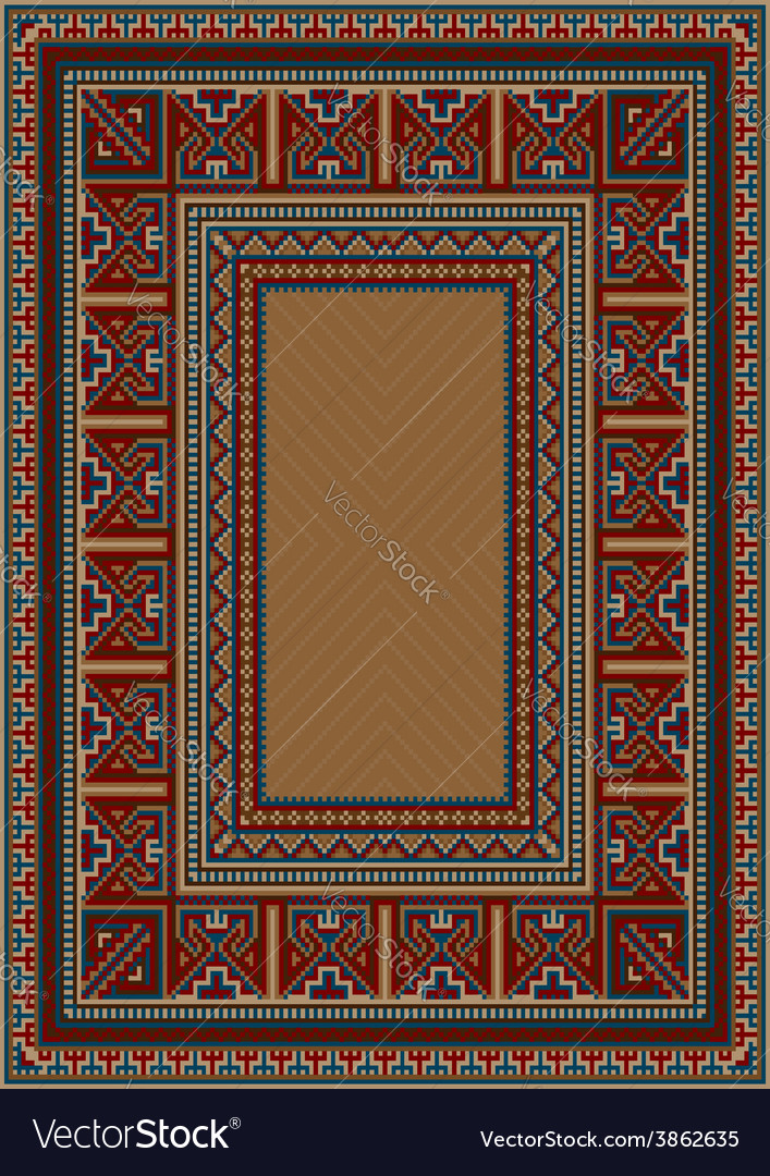 Vintage carpet with ethnic pattern vector | Price: 1 Credit (USD $1)