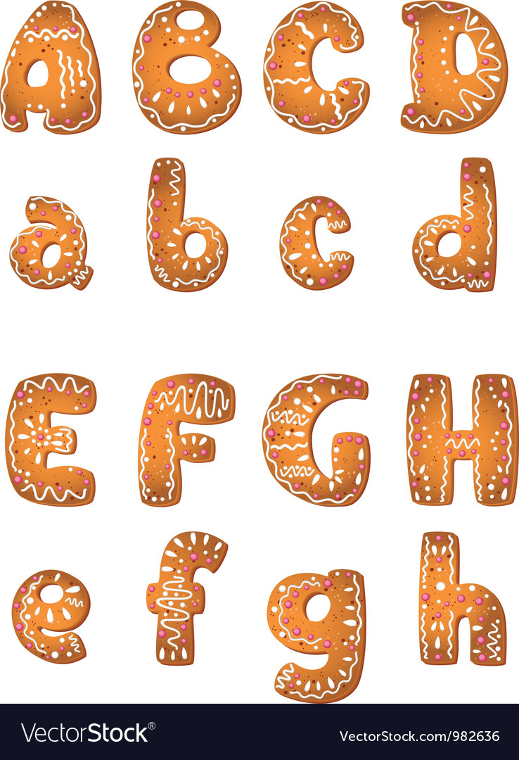 Cake letters set ah vector | Price: 1 Credit (USD $1)