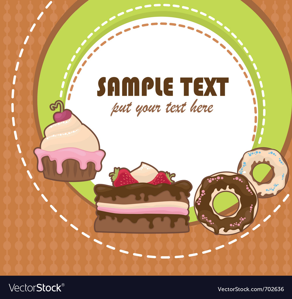 Cakes card vector | Price: 1 Credit (USD $1)