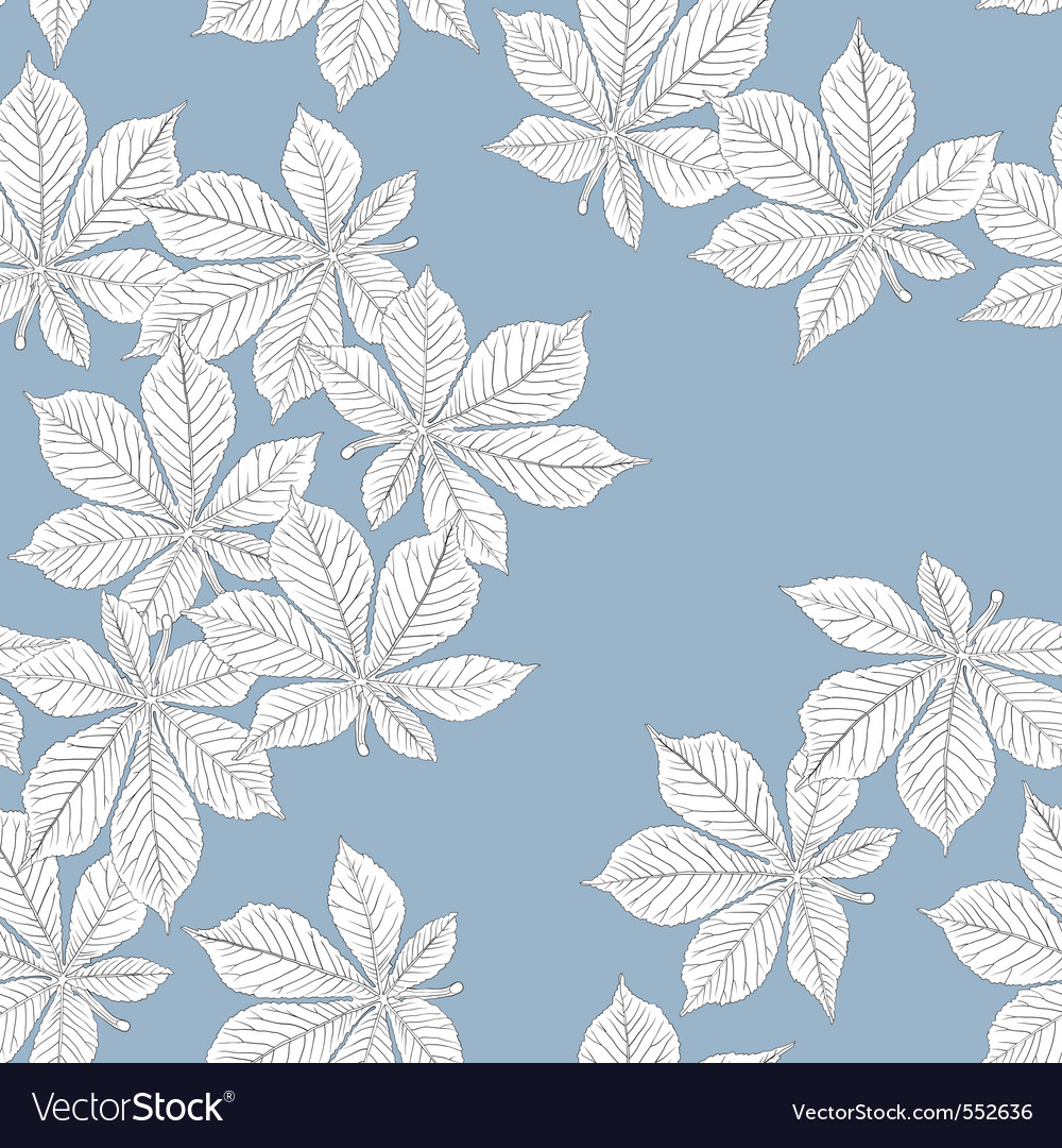 Chestnut leaves seamless vector | Price: 1 Credit (USD $1)