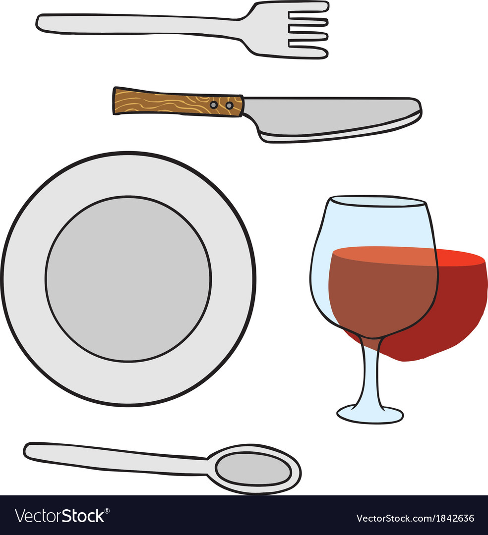 Dishwares vector | Price: 1 Credit (USD $1)