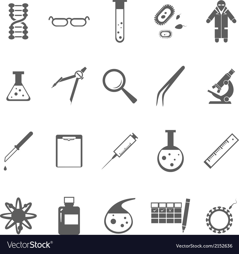 Genetic icons gray vector | Price: 1 Credit (USD $1)