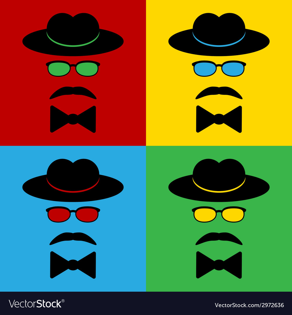 Gentleman icons vector | Price: 1 Credit (USD $1)