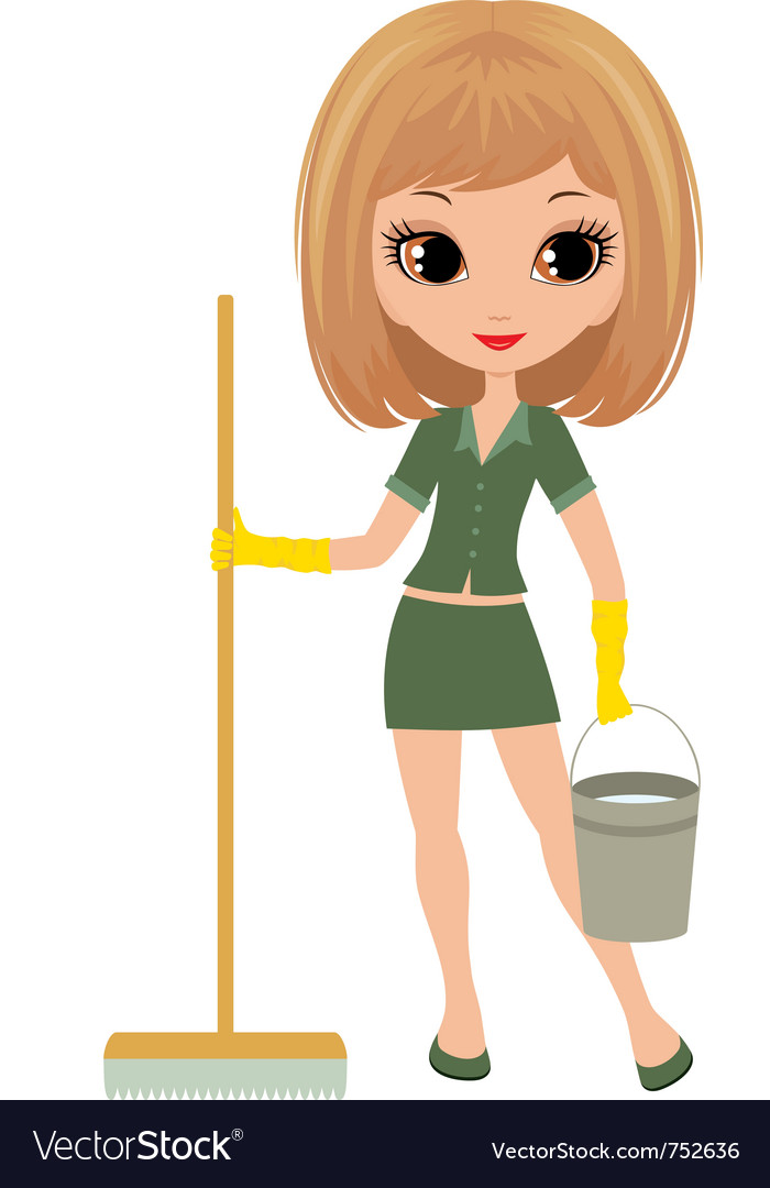 Girl the cleaner vector | Price: 3 Credit (USD $3)
