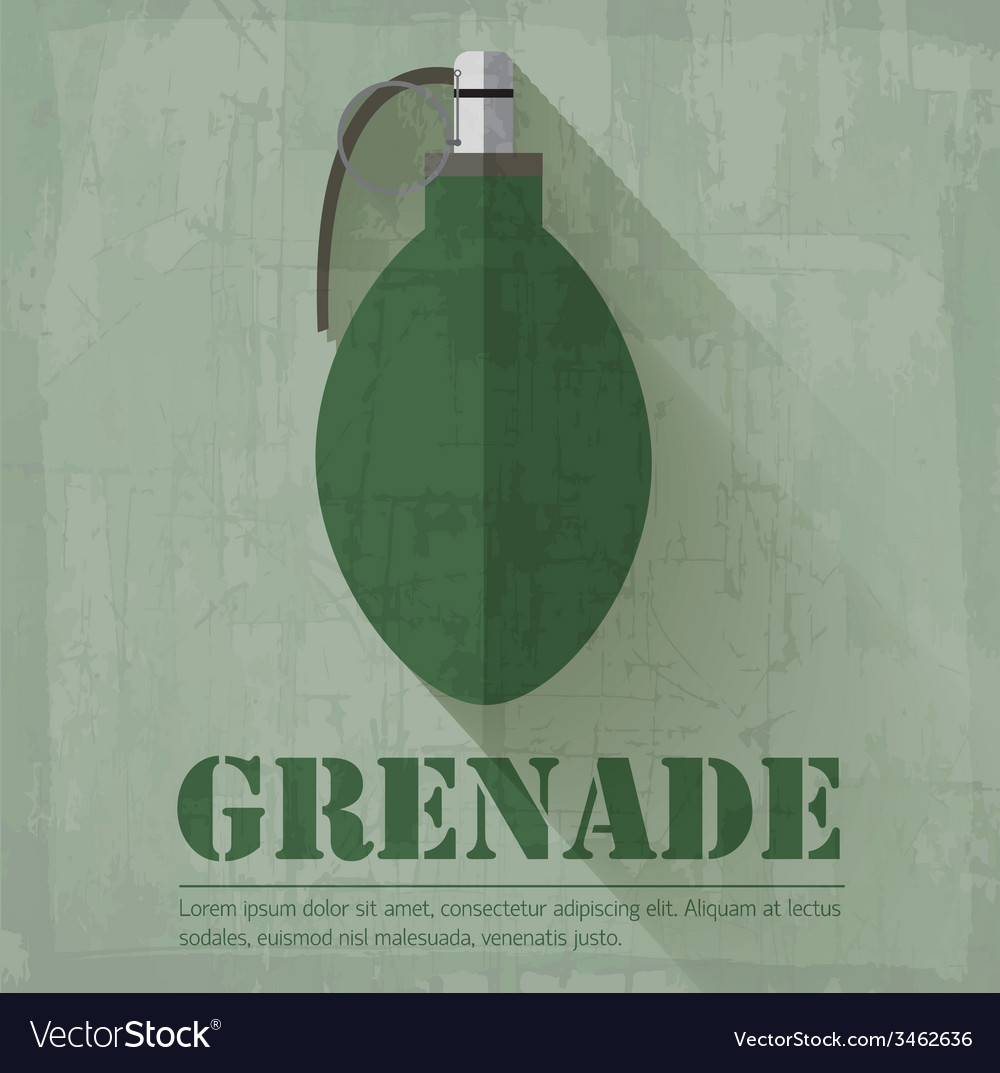 Grunge military grenede icon background concept vector | Price: 1 Credit (USD $1)