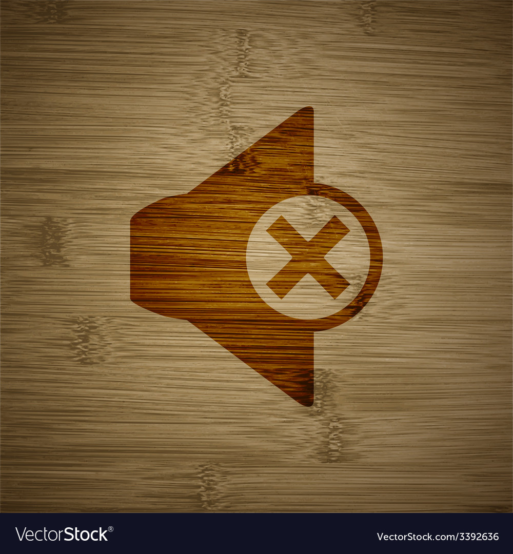 Mute speaker icon symbol flat modern web design vector | Price: 1 Credit (USD $1)