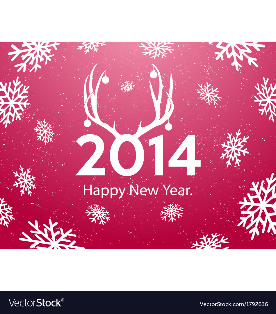 New year greeting card background vector | Price: 1 Credit (USD $1)