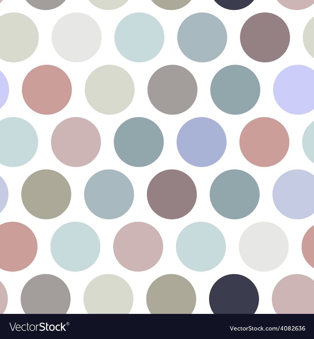 Polka dot background seamless pattern pastel color vector | Price: 1 Credit (USD $1)