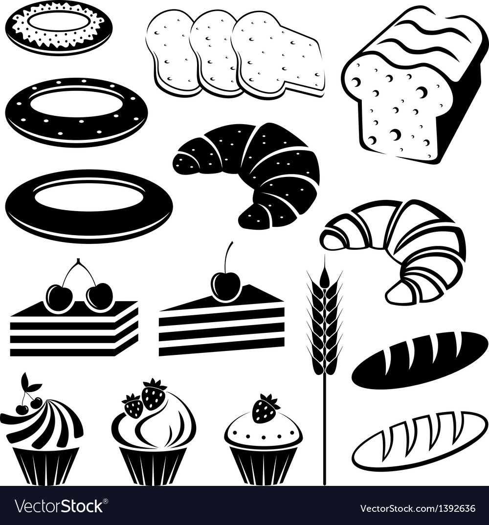 Set of baking and bread vector | Price: 1 Credit (USD $1)