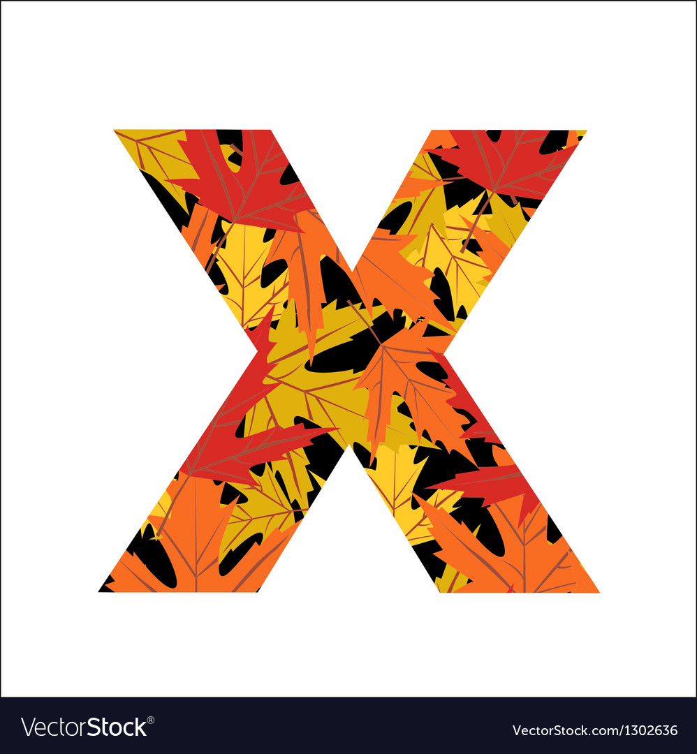 X letter vector | Price: 1 Credit (USD $1)