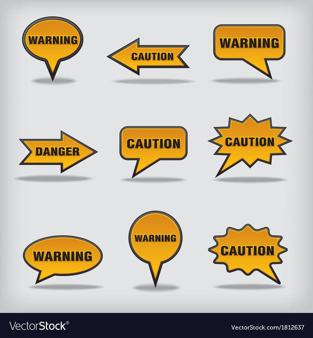 Caution vector | Price: 1 Credit (USD $1)