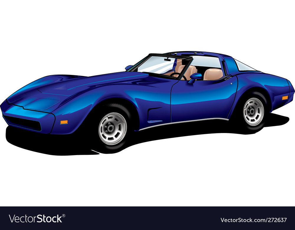 Corvette blue vector | Price: 3 Credit (USD $3)