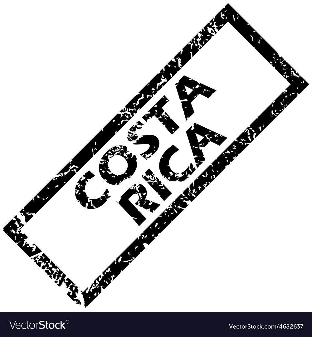 Costa rica rubber stamp vector | Price: 1 Credit (USD $1)