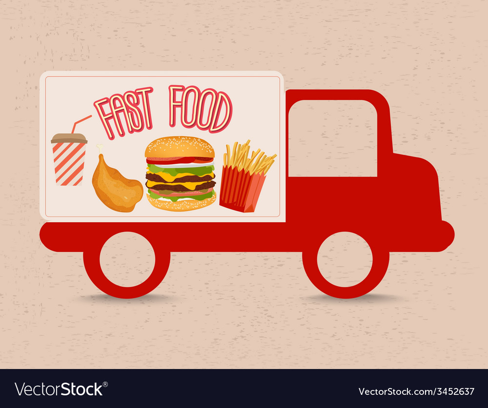 Fast food truck vector   Price: 1 Credit (USD $1)