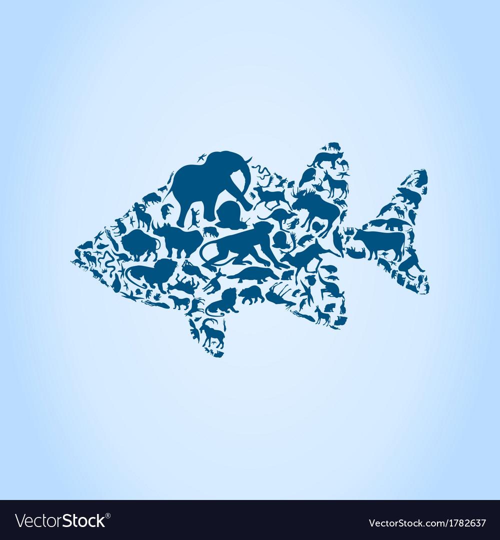 Fish an animal vector | Price: 1 Credit (USD $1)