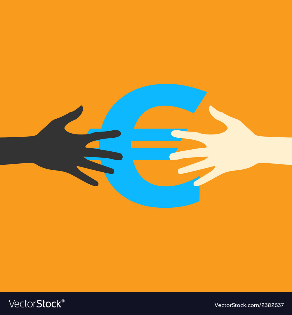 Hands and money print eps vector | Price: 1 Credit (USD $1)