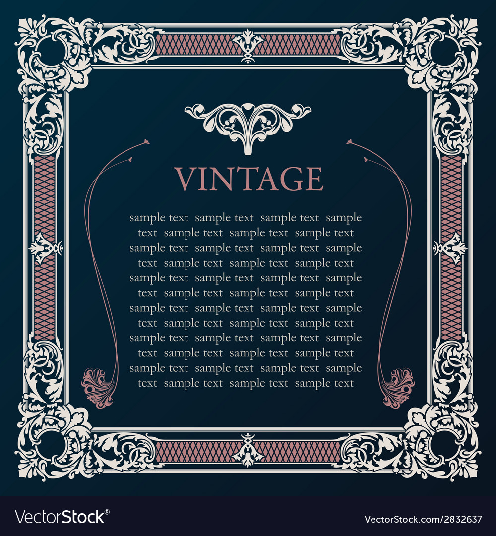 Label frame vintage tag decor medieval vector | Price: 1 Credit (USD $1)